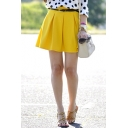 Women's Fashion Plain Mini A-Line Skater Skirt