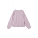 Women's Fashion Batwing Sleeve Round Neck Plain Oversize Casual Tee