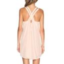 Women's Crisscross Back V-Neck Sleeveless Casual Fashion Plain Slip Dress