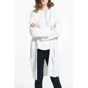 New Style Open Front Long Sleeve Tunic Knit Cardigan with Pockets