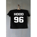 HOOD 96 Printed in Back Short Sleeve Round Neck Tee
