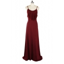 New Fashion Spaghetti Straps Sleeveless Lace Patched Front A-Line Maxi Slip Dress