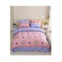 ComfortableFloral Printed BeddingSetsBedSheetSetDuvetCoverSet Bed Pillowcase