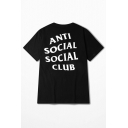 ANTI SOCIAL SOCIAL CLUB Letter Printed Short Sleeve Round Neck Tee