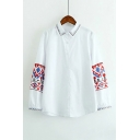Leisure Lapel Single Breasted Tribal Printed Long Sleeve Shirt