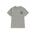 Street BF Style Funny Letter Pattern Round Neck Short Sleeve Casual Tee