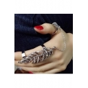 New Fashionable Leaf Shaped Movable Chaining Rings