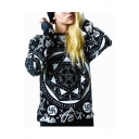 Unisex Regional Skull Printed Long Sleeve Round Neck Pullover Sweatshirt