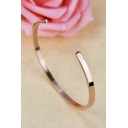 Simple Fashion Open C Shape Plain Bracelet