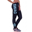 Women's Fashion Letter Printed Yoga Sport Leggings