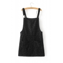 Glamorous Sequined Sleeveless Mini Overall Dress with Pockets