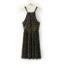 New Arrival Sleeveless Spaghetti Straps Elastic Waist Plain Mini Pleated Dress