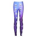 Galaxy Alien Printed Ombre Fashion Skinny Basic Leggings