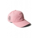 Letter Printed Outdoor Adjustable Baseball Unisex Cap