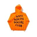 Unisex ANTI SOCIAL SOCIAL CLUB Letter Printed Back Hooded Long Sleeve Hoodie Sweatshirt