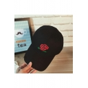 Unisex Embroidery Floral Pattern Adjustable Outdoor Baseball Cap