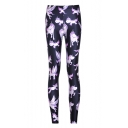 New Arrival Digital Pink Horse Printed Skinny Capri Leggings
