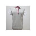Lady's Basic V-Neck Sleeveless Plain Fitted Cozy Knit Pullover Vest Sweater