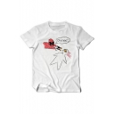 New Fashion Funny Cartoon Printed Round Neck Short Sleeve Graphic Tee