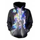 Street Style Printed Long Sleeve Oversize New Fashion Hoodie with Pockets