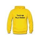 Unisex Hooded Trust Me I'm A Doctor Letter Printed Long Sleeve Couple Hoodie Sweatshirt