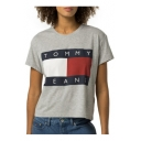 Color Block Letter Printed Round Neck Short Sleeve Pullover T-Shirt