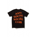 Contrast ANTI SOCIAL SOCIAL CLUB Printed Short Sleeve Round Neck Off-Duty Tee