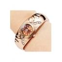 New Stylish Rhinestone Inserted Bracelet Watch