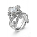 New Fashion Rose Design Luxurious Stylish Ring for Couple