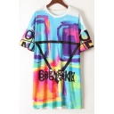 New Fashion Street Style Graffiti Printed Leisure T-Shirt Dress