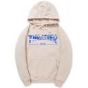 Letter Pattern Long Sleeve Leisure Hoodie with Pockets