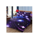 Comfortable Galaxy Printed Four-Piece Bedding Sets Bed Sheet Set Duvet Cover Set Bed Pillowcase