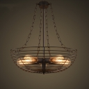 Foyer Pendant Industrial Style 5 Light LED Ceiling Light with Bowl Shape Wire Guard