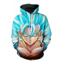 Cartoon Character 3D Printed Long Sleeve Hoodie Sweatshirt with One Pocket