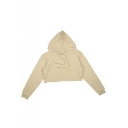 Summer's New Arrival Sports Leisure Long Sleeve Plain Cropped Hoodie