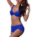 Basic Simple Plain Tank Top Bow Back String Side Bottom Bikini Swimwear