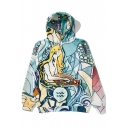 New Fashion Aquarius Printed Long Sleeve Casual Leisure Hoodie