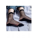 Summer's New Fashion Cut Out Plain Retro Fishnet Socks