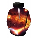 Unisex 3D Galaxy Color Block Printed Long Sleeve Hoodie Sweatshirt
