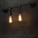 2-light LOFT Industrial Downward Lighted LED Wall Sconce