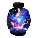 Unisex 3D Galaxy Printed Long Sleeve Hoodie Sweatshirt