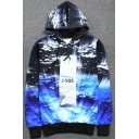 New Arrival Sea Galaxy Printed Long Sleeve Loose Hoodie