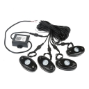 RGB 4 Pods LED Rock Light Kits For Jeep Off Road Car Vehicle Boat Cellphone Bluetooth Multi-Function
