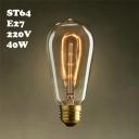 40W ST64 220V  E27  Edison Bulb