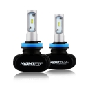 NIGHTEYE S1 Car LED Headlight Bulbs H11 50W 8000LM 6500K SEOUL CSP LED Pack of 2