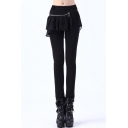 New Stylish Detachable Chiffon Skirt Mid Waist Plain Pencil Pants