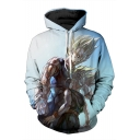 Couple Cartoon Character 3D Printed Long Sleeve Hoodie Sweatshirt