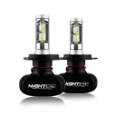 NIGHTEYE S1 Car LED Headlight Bulbs H4 50W 8000LM 6500K SEOUL CSP LED Pack of 2