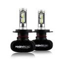 NIGHTEYE S1 Car LED Headlight Bulbs H4 50W 8000LM 6500K SEOUL CSP LED Pack of 2