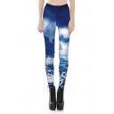 Digital Lightning Printed New Arrival Skinny Leggings